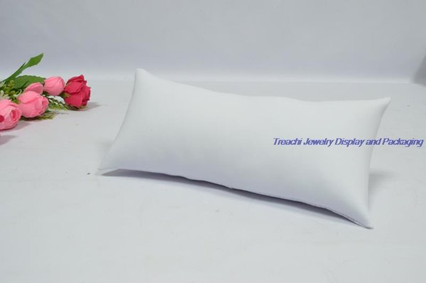 white PU leather pillow