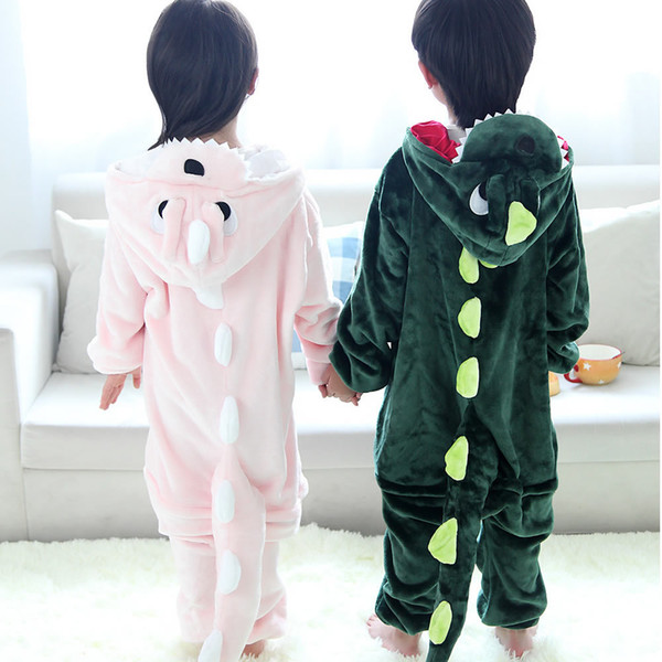 cd4184630 Dinosaur Pajamas Baby Girls Boys Clothes Warm Winter Sleepwear Coral ...