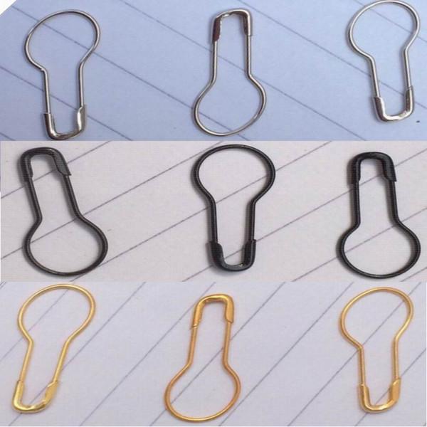 Perni pendenti pendenti della spilla della collana della spilla della collana della spilla della collana della spilla di sicurezza dell'acciaio nero dell'argento nero di trasporto libero di DHL