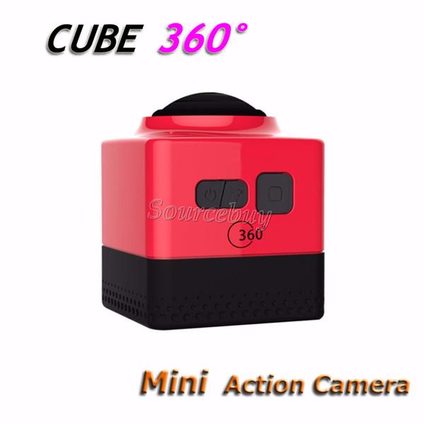 CUBE 360 Mini Sports Action Cameras 720P 360 degree Panoramic VR Build-in WiFi Mini Ultra Travel Life Camping Exploration DV DVRs Camcorder