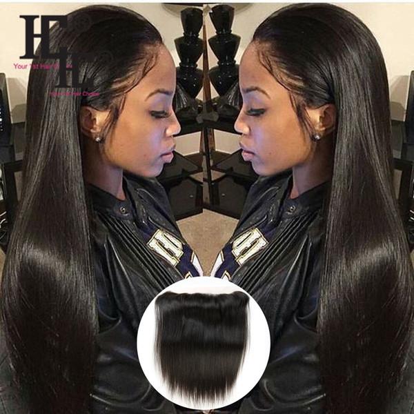 HC Cabello Straigt pelo precio al por mayor Brasileño Virginal Recto Cordón Cierre Frontal S traight 100% Extensiones de cabello humano sin procesar