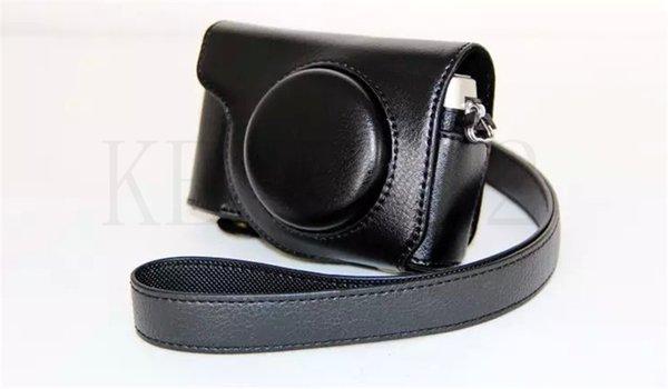 Bolsa preta com estojo de couro para câmera Olympus SH-1 SH1 Sempre pronta