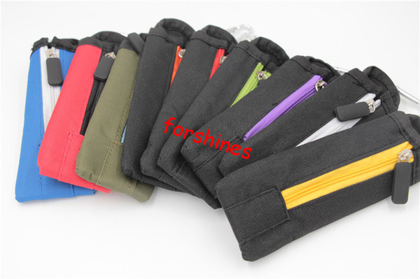 10pcs/lot free shipping usa Vaporizer Holder Keychain Carry Pouch ecig electronic cigarette Carrying Bag for ego-t ego-w ego-twist X6 e-cig