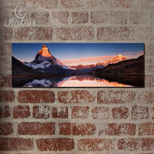 Europe Artist Snow Mountain Oil Painting for Living Room Wall Art Canvas Lake Painting Unframed Large HD Modern Modular Pictures