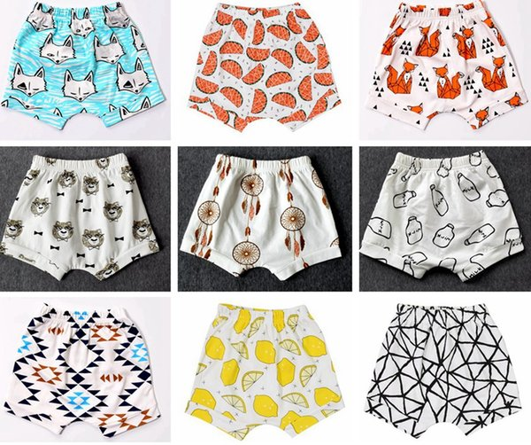 best selling INS New Baby toddler boys girls ins pants Leggings Bee Panda Zoo embroidered Sabrina pant Cropped Trousers boys Harem Short Shorts