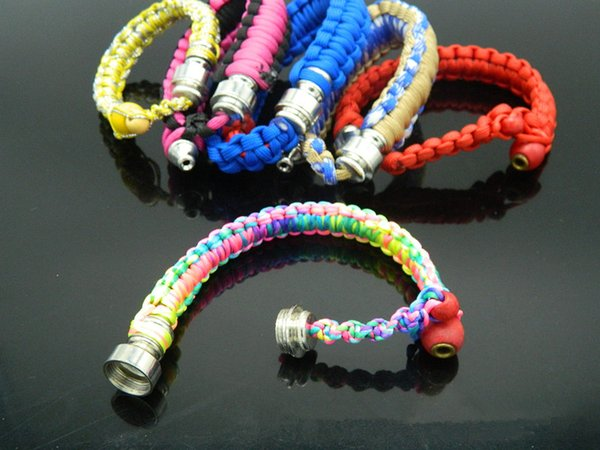 Wrist Pipe smoking Stealthy Pipes for dry herb Discreet Wrist Hookah Smoking Pipe Paracord Pipe Bracelet For dry herb