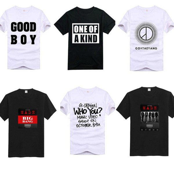 men s clothing designer t shirts bigbang cotton one of a kind good boy made letterS XXL popular casual tee shirts short sleeves