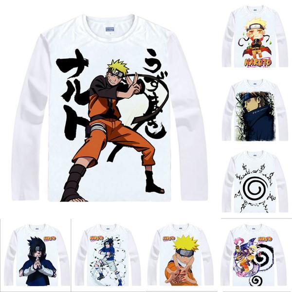 Anime Shirt Ninja NARUTO T-Shirts Multi-style Long Sleeve Naruto Uzumaki Sasuke Uchiha Cosplay Motivs Kawaii Shirts