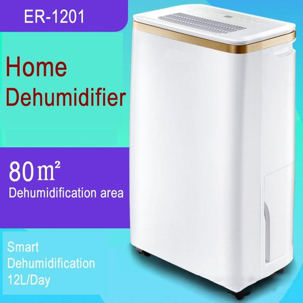 ER-1201 Home Intelligent Dehumidifier Household Villa Warehouse Basement Dry Machine Clothes Dryer 220V Air Dryer 12L/day