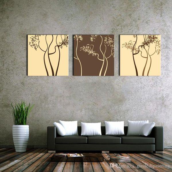 Espírito Up Arte Da Parede Da Cópia Da Lona de Arte café Abstrato Arte Árvores Fotos Moderna Casa Decoração Pintura