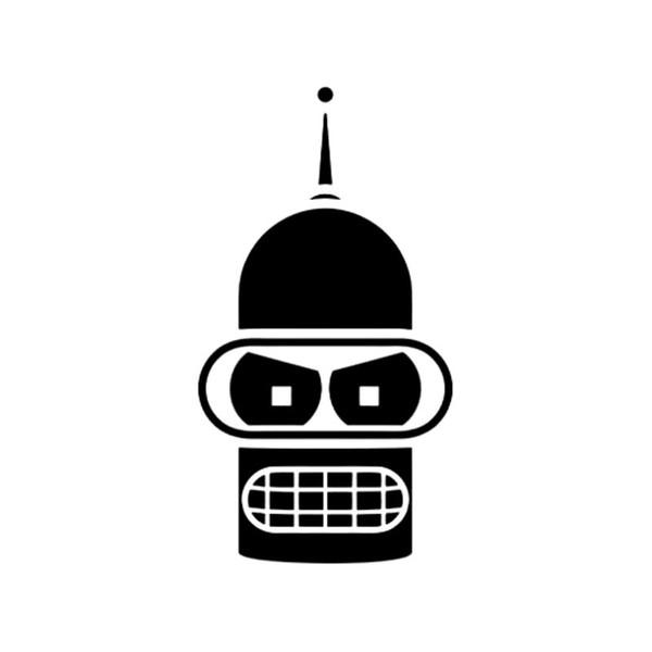 New Design Bender Face Cartoon Fashion Car Styling Decals Vinyl Creative Stickers Accessories Decorative Jdm