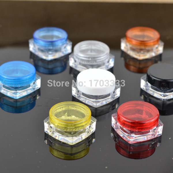 best selling 2000pcs lot 3G Square Cream Jars Clear Plastic Makeup Sub-bottling,Empty Cosmetic Container,Small Sample Mask Canister