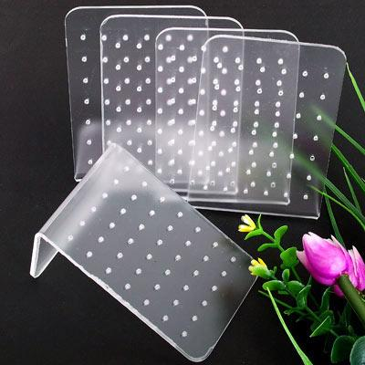 10pcs 90x60mm Acrylic 42 Holes Stud Earring Jewelry holder Display Stand Holder,Showcase Counter Table Fashion Jewelry Display