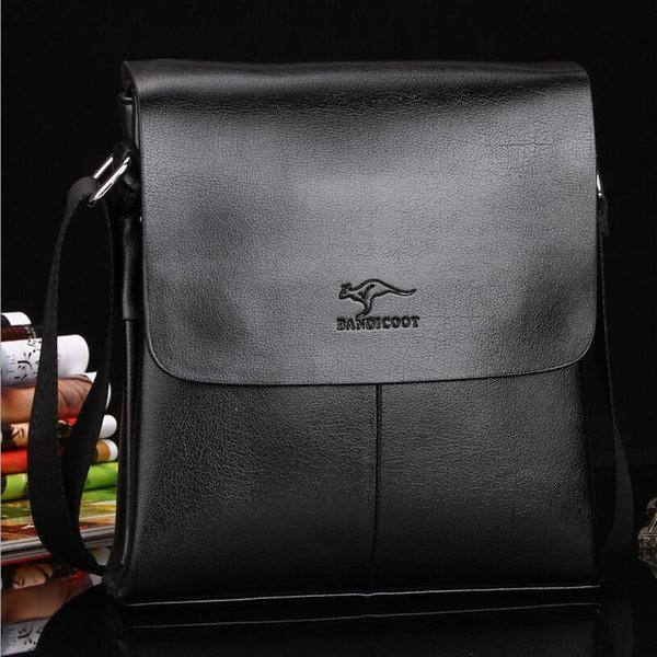 New Men Business Shoulder Bags Genuine Leather Flap Casual Cover Polo Cross Bady Bags Men Brand Messenger Bags Black Brown