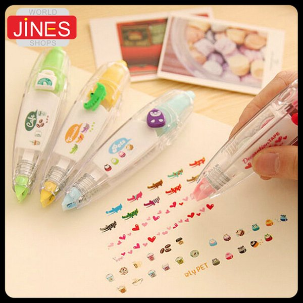 5 pcs/lot Free Shipping hot New creative cartoon push correction tape with cute lace modified stationery Fashion gift