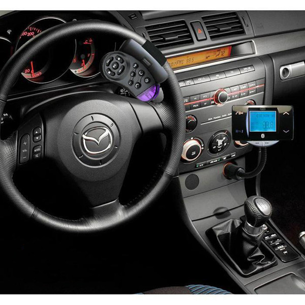 "New Cheap 1.5"" LCD Screen Bluetooth Car Kit MP3 Player FM Transmitter Modulator Remote Control USB/SD/MMC Car Bluetooth FM Transmitter DHL"