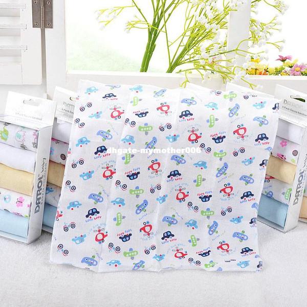 5Pcs/Set Baby Bibs Newborn Bandana Baby Kerchief Double Layers Cotton Gauze Handkerchief Towel Dribble Infant Soft Towel T0308