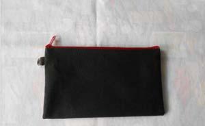 black/red zipper