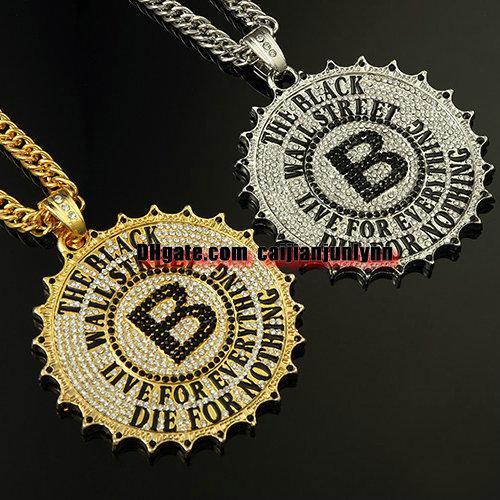 Hip hop schmuck  Großhandel Mens Hip Hop Schmuck Iced Out Zahnrad 18k Gold ...
