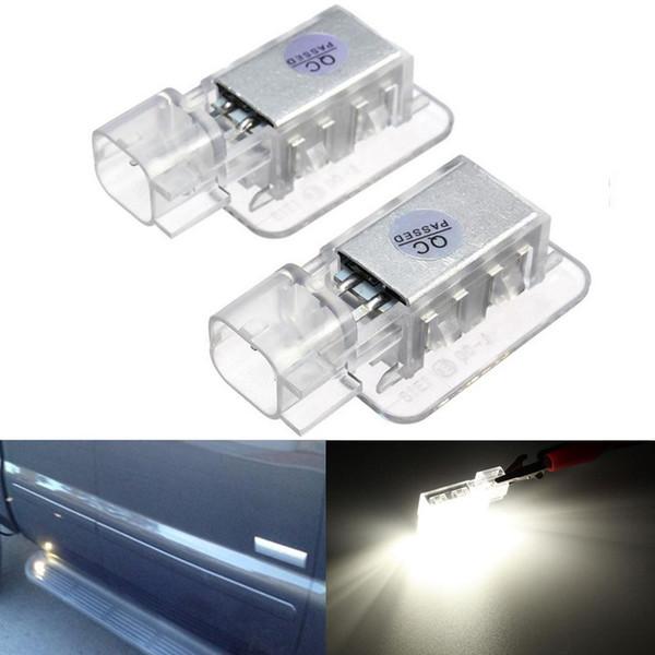 2Pcs Error Free 18 3528 SMD LED Boot Under Door Courtesy Light Door Lamp Bulb Car Light Source For Volvo C30 V70 XC70 XC90