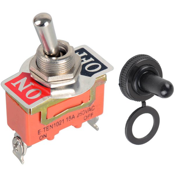 top popular 1Pc Orange Heavy Duty SPST 2 Terminal ON OFF Toggle Switch & Waterproof Cap B00025 BARD 2021
