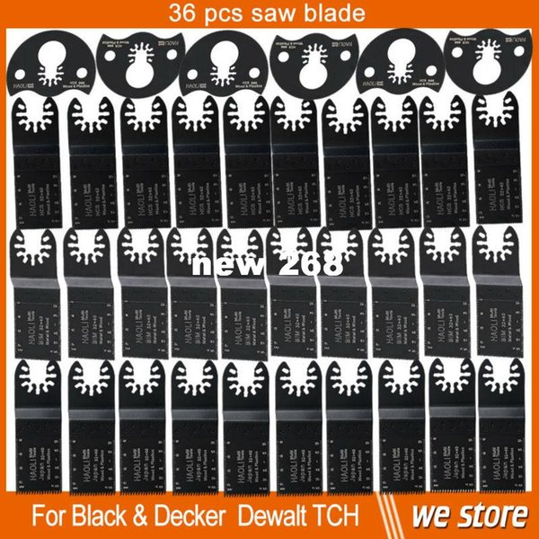 top popular free shipping 36 pcs Oscillating multi toolSaw Blades Accessories fit for Multimaster power tools as Fein,wood metal cutting 2021