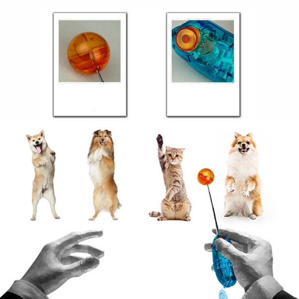 Hot Sales Pet Supplies Dog Cat Puppy Click Clicker With Ball Training Obedience Trainer Aid Tools Plastic Mixed Colors DHL Free 161012