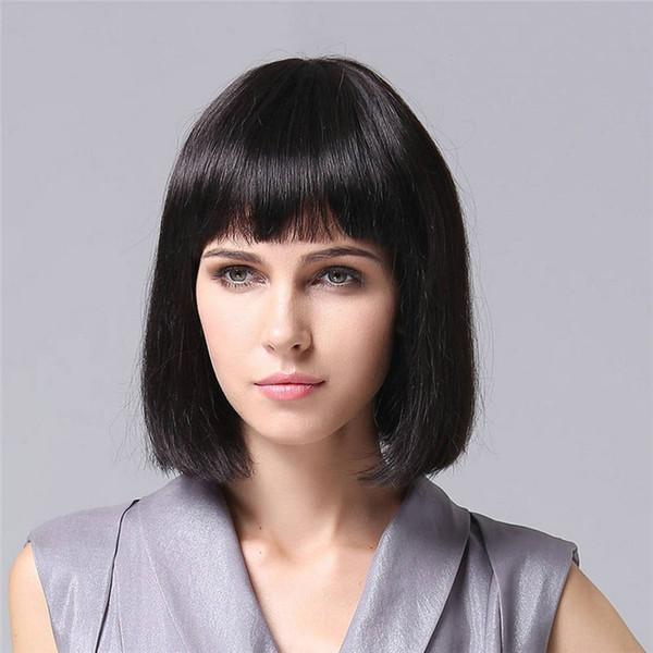 Full Lace Wigs Cheveux vierges brésiliens Cheveux 100% pour cent de densité pour cent de mon lacet Bob perruque et cheveux naturellement féminins des femmes