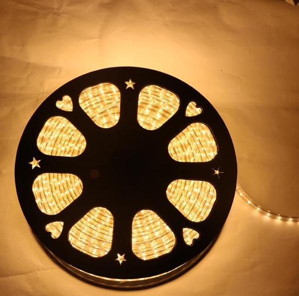 220 V 230 V 240 V Tiras de LED 100 M / lote Epistar SMD2835 tira flexível com Ficha de alimentação IP67 Branco Quente Puro branco Para O Natal Por DHL