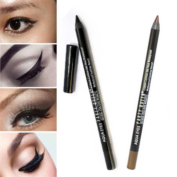1pcs Black / Brown Waterproof Eye Liner Pen Smooth Gel Eyeliner Pencil Party Queen Brand Makeup Cosmetic Smoky Eye Make Up