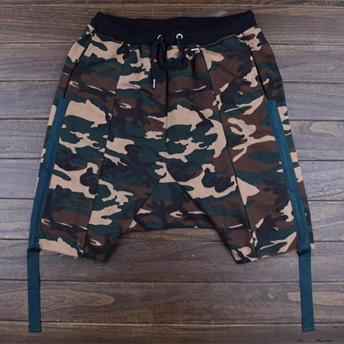 wholesale-2016casual thin hiphop hip-hop summer male camouflage shorts hanging harlan crotch personality plus size ankle offw hba