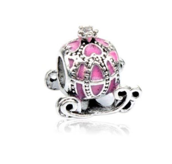 Fit Pandora Charm Armband Europäischen Silber Charms Perlen Cinderella Kürbis Wagen DIY Schlangenkette Für Frauen Armreif Halskette Schmuck Weihnachten