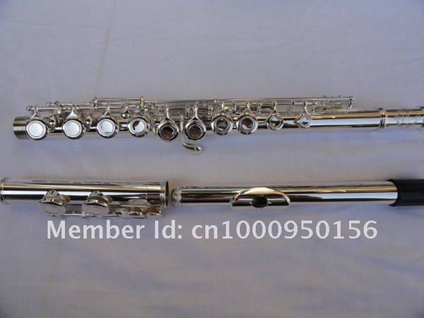 Suzuki High Quality C Tune Flute 16 Hole Closed Cupronickel Silver Plated E Key Flute Playing Musical Instrument Free Shipping