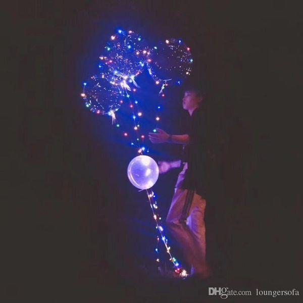 Palloncino aerostatico durevole che emette luce nell'oscurità Palloni trasparenti del LED con 3 metri leggera string Airballoon sempre luminoso B R