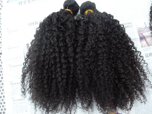 brazilian curly hair weft hair extensions unprocessed curly natural black color human extensions can be dyed
