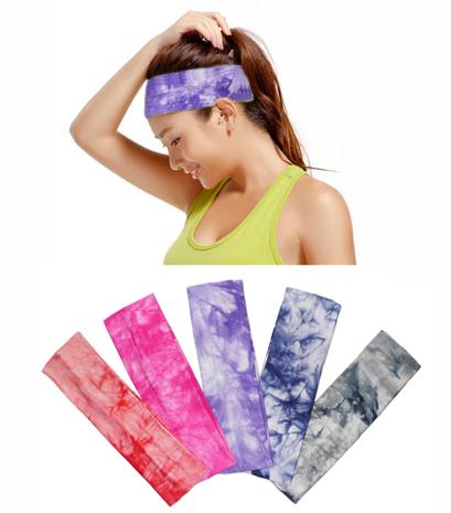 Wholesale-2016 Hot Gmy Yoga Hair Band Tiara Fitness Running Yoga Gum for Hair band Headbands Sweatband Headwear 1 Pieces Free shipping