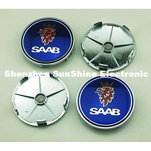 4pcs 68mm Car Styling Accessories Emblem Badge Sticker Wheel Hub Caps Centre Cover For SAAB Vector Linear Aero Free Shipping
