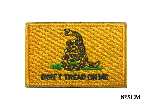 DON'T TREAD ON ME Morale Tactical Morale Patch Hook&Loop Embroidered/PVC Badge Appliques Embroidery/Rubber Emblem