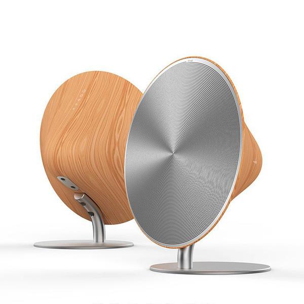2017portable Wireless speaker solo one NFC Aluminium alloy wood grain Bluetooth Speaker Sound Box Stereo Hifi Speaker with Touch Button