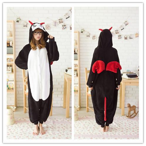 fashion New Adult Animal devil Pajamas Sleepsuit Cosplay Sleepwear Pyjamas Dark Angel Onesie