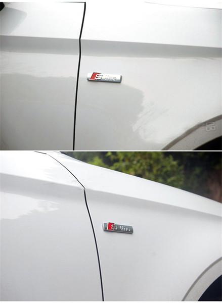 Voiture stying Automobiles 3D Metal Emblem Autocollant de voiture Sline autocollant pour Audi A3 A4 A5 A6 Q3 Q5 Q7