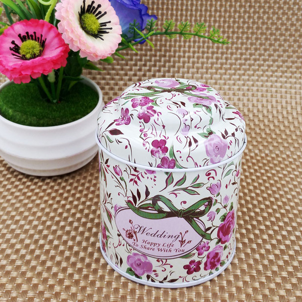 Wedding Favor Tin Candy Box Coffee Sugar Tea Tin Box Storage Creative Mushroom Tea box 100pcs wholesale