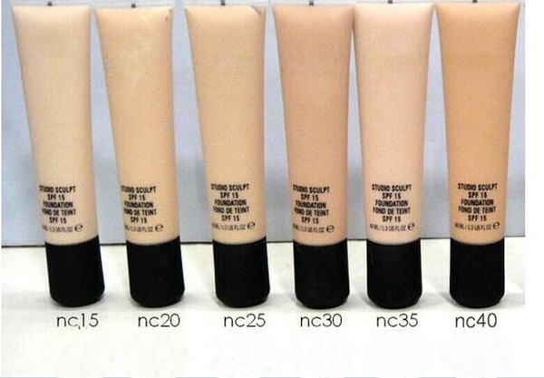 lowest price NEW hot makeup liquid foundation 40ML 6 color DHL free shipping