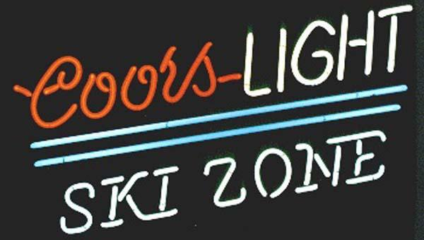 """Coors Light Ski Zone Neon Sign Handcrafted Custom Real Glass Tube Store KTV PUB Club Beer Bar Advertising Display Neon Signs 17""""X10"""""""