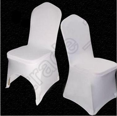 best selling 200pcs CCA4085 High Quality Universal White Polyester Spandex Wedding Chair Covers For Weddings Banquet Folding Hotel Decoration Chair Cover