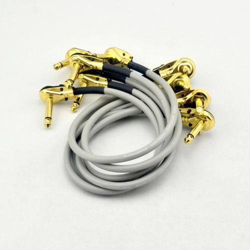 6 х 30СМ прямоугольный 1/4 моно гитара эффект педаль доска кабель патч шнур серый