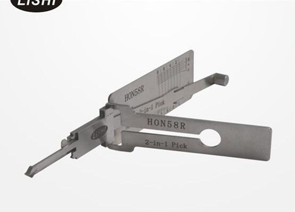 LISHI HON58R 2-in-1 Auto Pick and Decoder For Honda Motorcycle locksmith lock pick tool auto pick set Free shipping