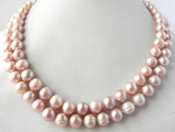 Hot 12-13mm south sea lavender baroque pearl necklace 38inch 14k gold clasp