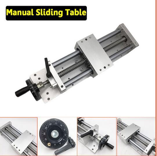 CNC Manual Sliding Table Cross Slide X Y Z Axis Linear Stage SFU1605 Ballscrew C7 Linear Motion Actuator DIY Milling Engraving