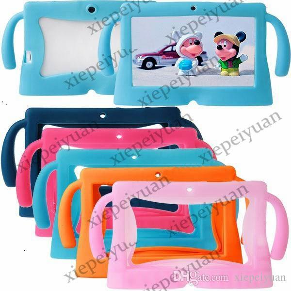 100PCS Kids Soft Silicone Rubber Gel Case Cover For Q88 A13 A23 A33 Q8 Android Tablet PC
